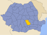 Administrative map of Romania with Prahova county highlighted