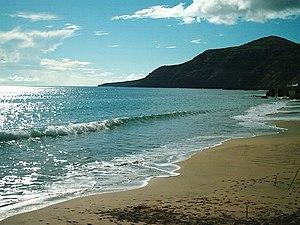 Almagreira (Vila do Porto) - The unique white sand beaches of Praia Formosa, created from alluvial runoff, and extending along the southern coast