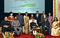 Pranab Mukherjee at the Indian Community Reception hosted by the Ambassador of India to Sweden, Ms. Banashri Bose Harrison, in Stockholm, Sweden. The Minister of State for Chemicals & Fertilizers.jpg
