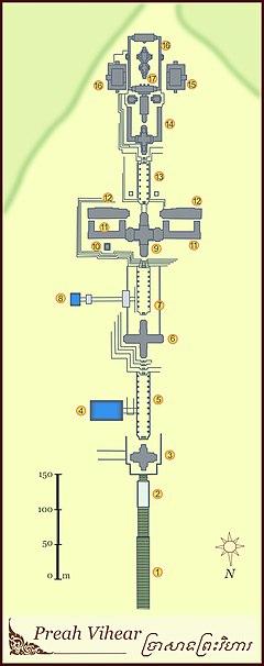 Plan of Prasat Preah Vihear.