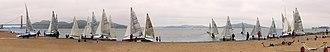 505 (dinghy) - Image: Preparation for schooner race