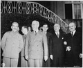 President Harry S. Truman visits Soviet Prime Minister Josef Stalin at Mr. Stalin's residence during the Potsdam... - NARA - 198983.tif