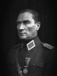 President Mustafa Kemal is pictured in military uniform.png