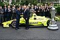 President Trump and the Indy 500 Winner (48051777047).jpg