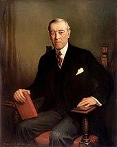 Thomas Woodrow Wilson, presidente degli Stati Uniti d'America e ideatore dei quattordici punti, con cui si prefiggeva di garantire la pace nel mondo