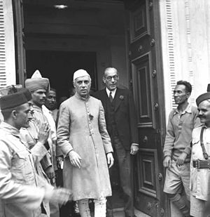 Bengal Chamber of Commerce and Industry - Prime Minister Jawaharlal Nehru with then President of the chamber H.D. Cumberbatch in January 1948.
