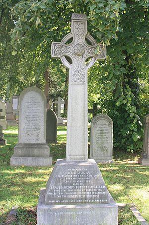 Samuel Butcher (classicist) - Prof Samuel Butcher's grave, Dean Cemetery
