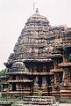 Profile of shrine and tower at Lakshminarasimha Temple in Haranhalli.JPG