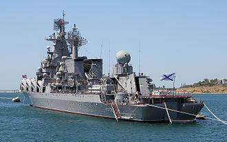 Russian cruiser Moskva - Moskva in 2012