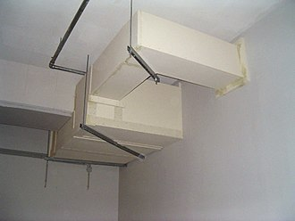 Fireproofing - Circuit integrity fireproofing of cable trays, using calcium silicate boards.