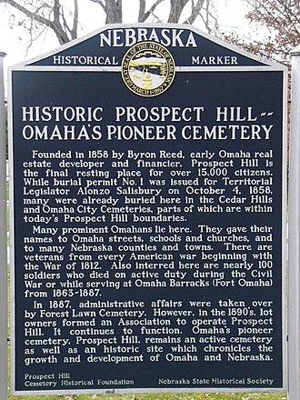 Prospect Hill Cemetery (North Omaha, Nebraska) - State Historical Marker