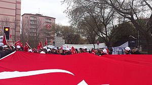 February 2016 Ankara bombing - Thousands at protests all over Turkey