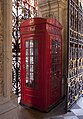 Prototype K2 telephone kiosk to western side of entrance portal of Burlington House.jpg