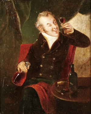 "Connoisseur - ""Testing the Wine"", English School, 19th century."