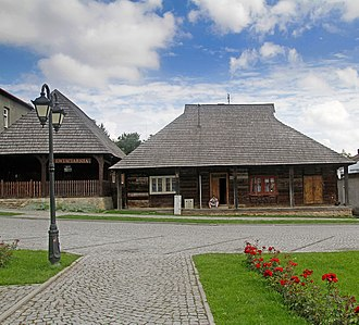 Pruchnik - Historic wooden architecture on the market square