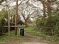 Public footpath at Ingrave - geograph.org.uk - 753005.jpg