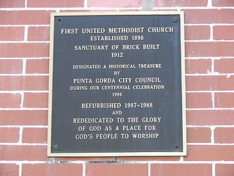 Punta Gorda First United Methodist Church plaque.jpg