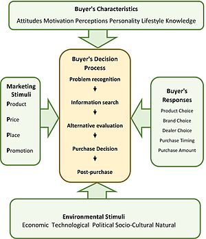 Consumer behaviour - The purchasing decision model