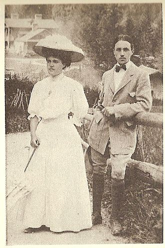 Allevard - Pierre Vellones and his sister at Allevard, 1909
