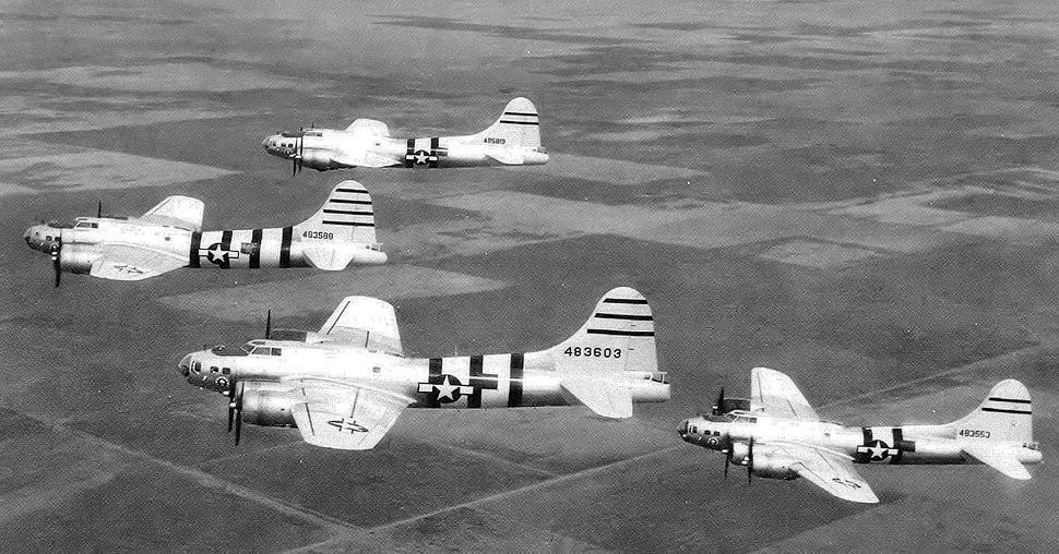 QB-17 Flying Fortress Drones over New Mexico 1946