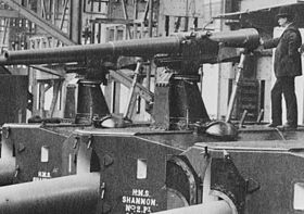 QF 12 pdr 18 cwt guns for HMS Shannon Vickers Works LOC ggbain 19618.jpg