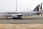 Qatar Airways, A7-CJA, Airbus A319-133 LR (40659267593).jpg