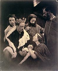 Queen Philippa interceding for the Burghers of Calais, by Julia Margaret Cameron.jpg