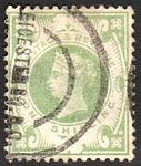 Queen Victoria 1s SG211 Leicester Square, London, cancel.jpg