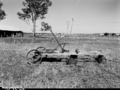 Queensland State Archives 1881 Wooden four wheeled dray with brake from a collection of general photos of Boonah Gatton and Esk February 1956.png