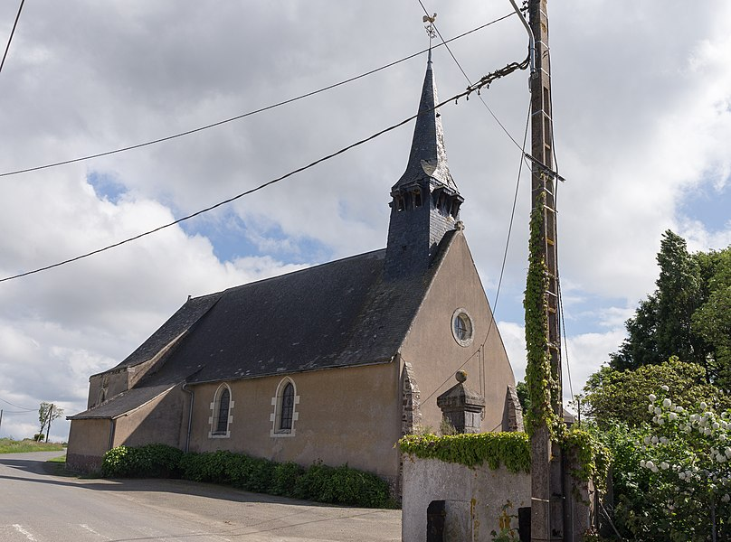 Church of Saint-Gault in Quelaines-Saint-Gault.