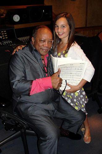 Emily Bear - Bear with her mentor, Quincy Jones, 2012