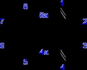 Quinoxaline - Image: Quinoxaline numbering