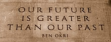 Quote by Ben Okri on the Memorial Gates at the Hyde Park Corner end of Constitution Hill in London, UK.jpg
