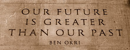 Quote from Ben Okri's Mental Fight on the Memorial Gates, London Quote by Ben Okri on the Memorial Gates at the Hyde Park Corner end of Constitution Hill in London, UK.jpg