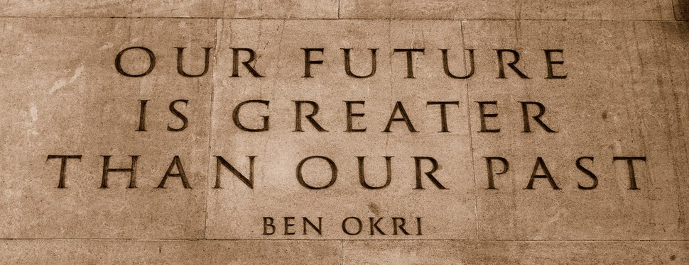 Quote by Ben Okri on the Memorial Gates at the Hyde Park Corner end of Constitution Hill in London, UK