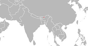 alt=Description de l'image Répartition du macaque d'Arunachal.jpg.
