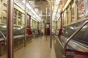 R33 (New York City Subway car) - Image: R33 interior