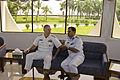 RAdm. Tom Carney, Commander, Task Force 73 (left), meets with Capt. Aslam Parvez of the Bangladesh Navy 110919-N-RI844-303.jpg