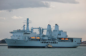 RFA Fort Victoria (A387) - RFA Fort Victoria in Portsmouth