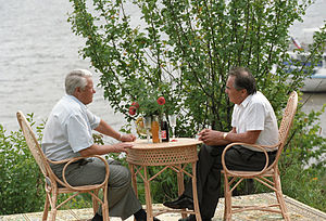 Mintimer Shaimiev - With President Boris Yeltsin in 1994