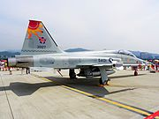 ROCAF F-5F Quarter View in Songshan Air Force Base 20110813
