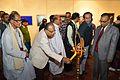 Radharaman Chakrabarty - Inaugural Lamp Lighting - Biswatosh Sengupta Solo Exhibition - Kolkata 2013-12-11 5064.JPG