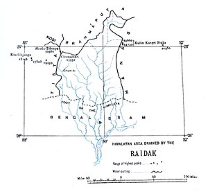 Raidāk River - Catchment area boundary