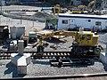 Rail construction vehicle at Yawkey station, 28 September 2013.JPG