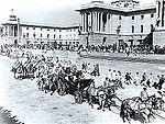 Az első köztársaság napi parádé Újdelhiben 1950-ben