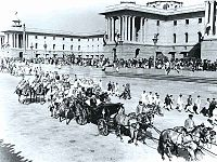Rajendra Prasad readies to take part in the first Republic Day parade.jpg