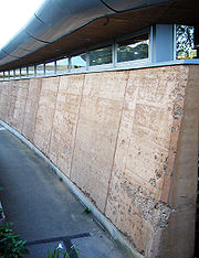 Rammed earth wall - Eden Project