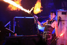 Frontman Till Lindemann live in Chili.