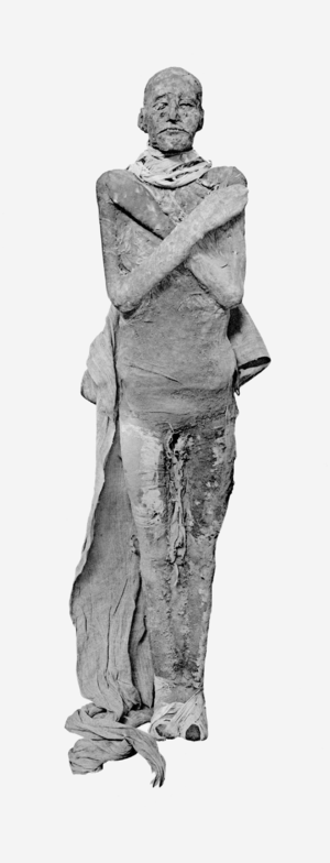 English: Mummy of pharaoh Ramesses III. Русски...
