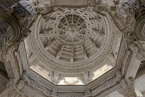 Architecture of Rajasthan - Image: Ranakpur Jain Temple Ceiling detail